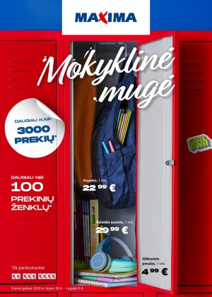 "MAXIMA XX XXX XXXX katalogas ""MOKYKLINĖ MUGĖ"" (2020 07 30 - 2020 09 09)"